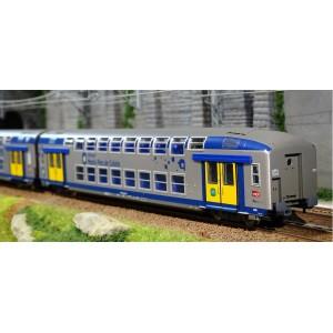 ViTrains 1105 Set de 3 voitures voyageurs VO2N SNCF, livré Nord Pas de Calais, Logo carmillon