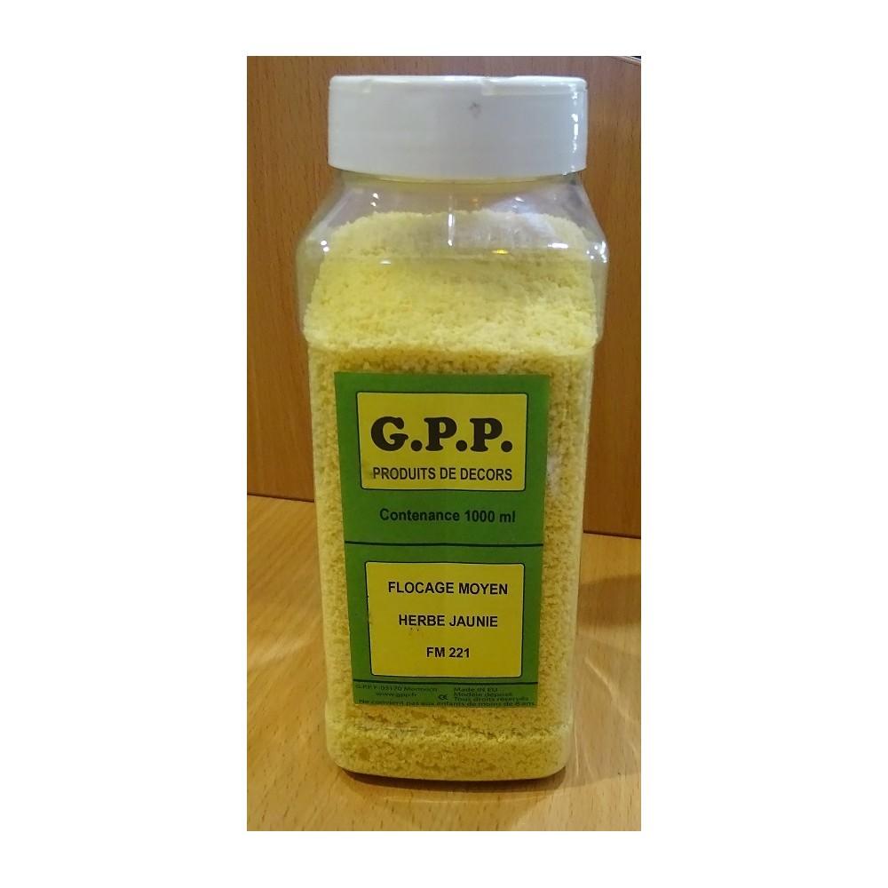 GPP FM 221 Flocage Mousse Herbe Jaunie  Pot de 1 litre