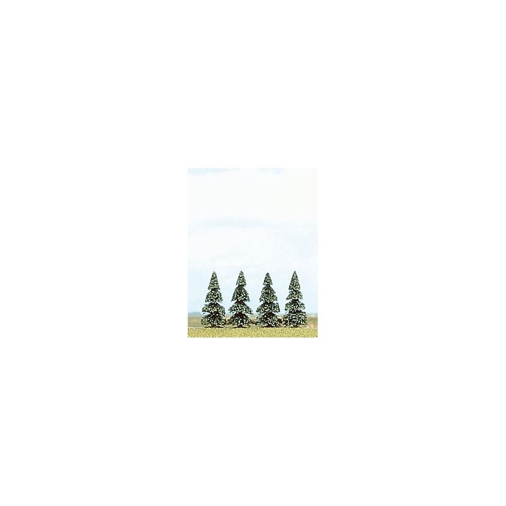 Busch 6100 Blister de 4 sapins, hauteur de 55 mm