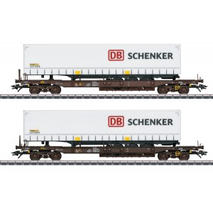 "Marklin 47110 Set de 2 wagons poches ""DB-Schenker"""