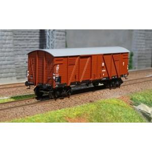 Ree modeles WB 528 Wagon Couvert TP 2 Portes, bogies, ep. III, DR