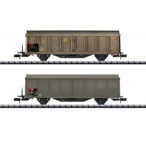 MiniTrix 15307 Set de 2 wagons à parois coulissantes Hbis-v, CFF SBB, échellle N