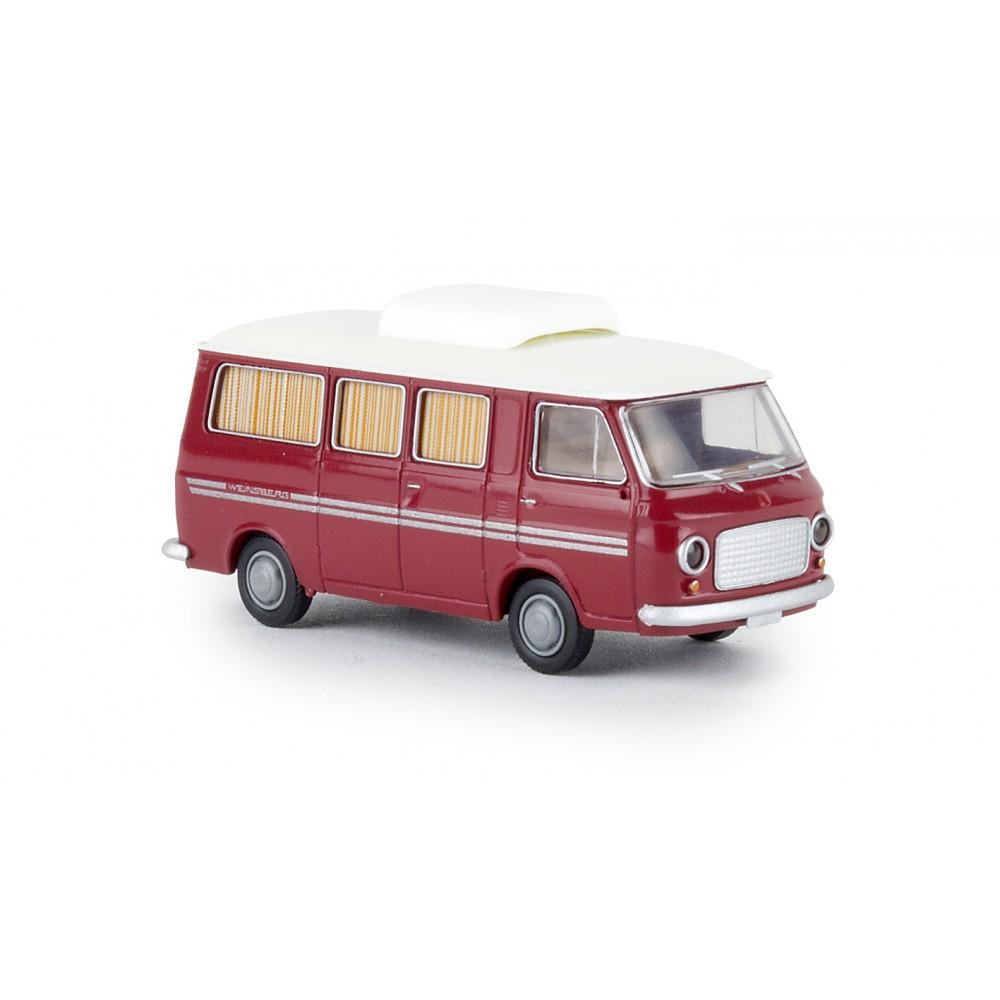 Brekina 34408 Camping-car Fiat 238, rouge rubis