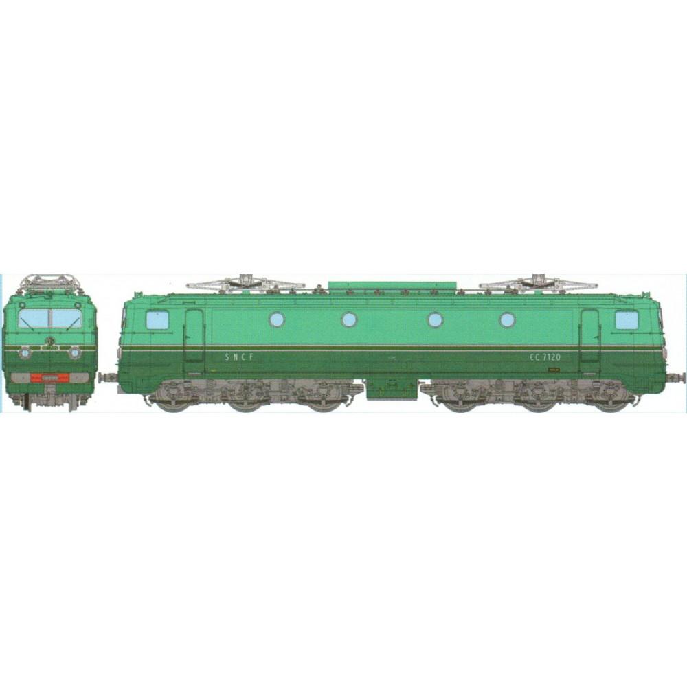 Ree Access JM-002 Locomotive électrique CC 7120 Origine Sud-Ouest, dépôt Paris Sud-Ouest