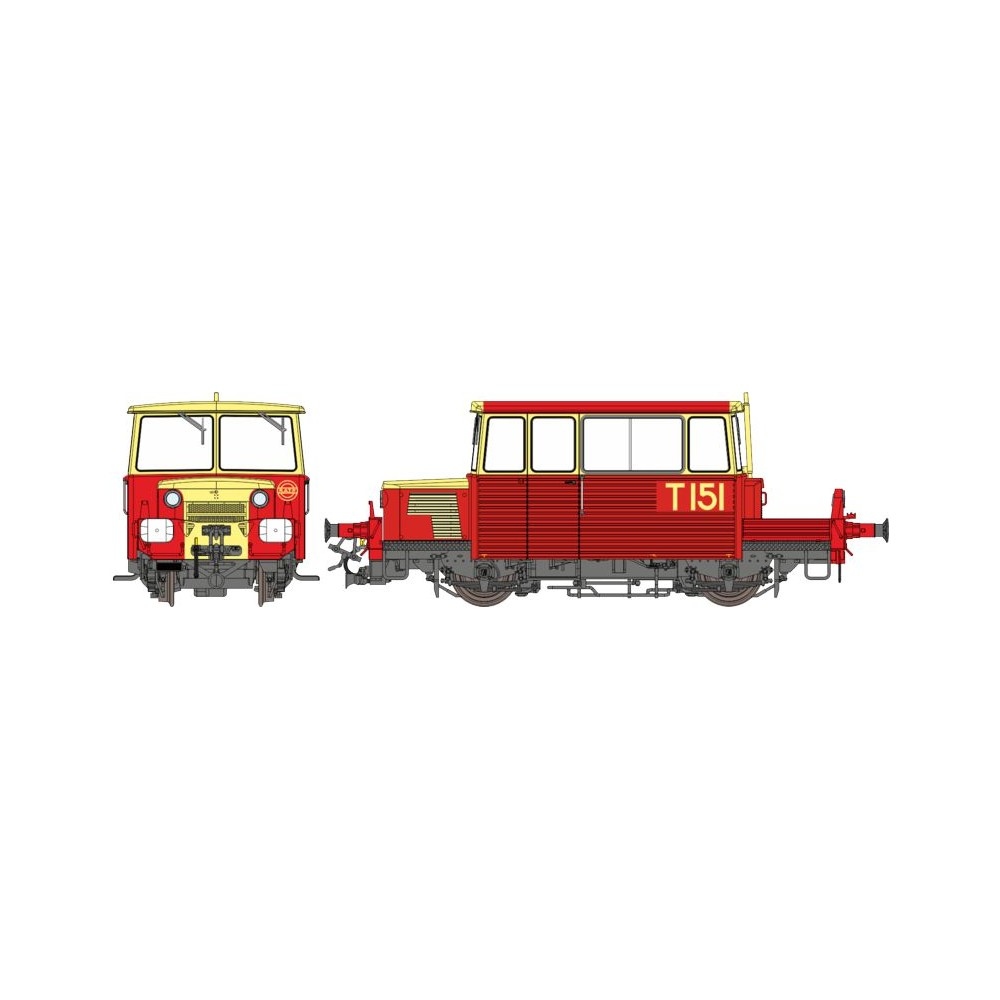 Ree Modeles MB-111.S Draisine DU65, phare à disques, RATP, toit rouge, Digital sonore