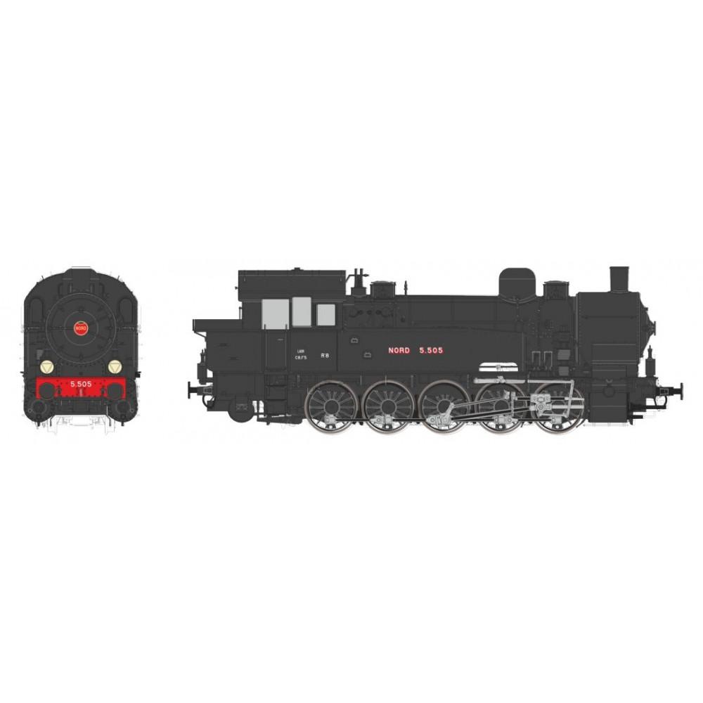 Ree Modeles MBE 007 Locomotive à vapeur T-16 Ex-Allemande, Nord 5.505, sonore, fumée