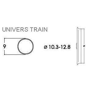Roco 40069 Bandage d'adhérence pour locomotive 10.3 - 12.8mm x10