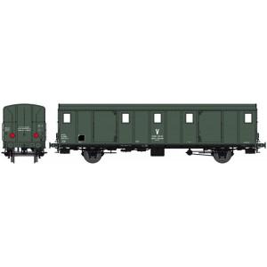 Ree Modeles VB 117S Voiture fourgon OCEM 30, toit lisse, SNCF, wagon atelier, feux, digital portes motorisées