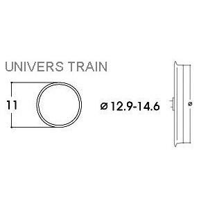 Roco 40070 Bandage d'adhérence pour locomotive 12.9 - 14.6mm x10
