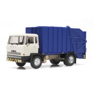 Artitec 487.051.03 Camion DAF poubelle, cabine A 1970, bleu et blanc, châssis court