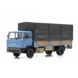Artitec 487.051.01 Camion DAF porteur bâché, cabine A 1970, bleu, châssis long