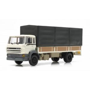 Artitec 487.053.02 Camion DAF porteur bâché, cabine C 1987, blanc, châssis long