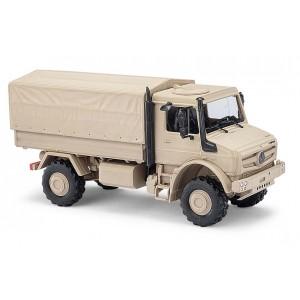 Busch 51020 Véhicule Mercedes Unimog, U 5023, militaire sable