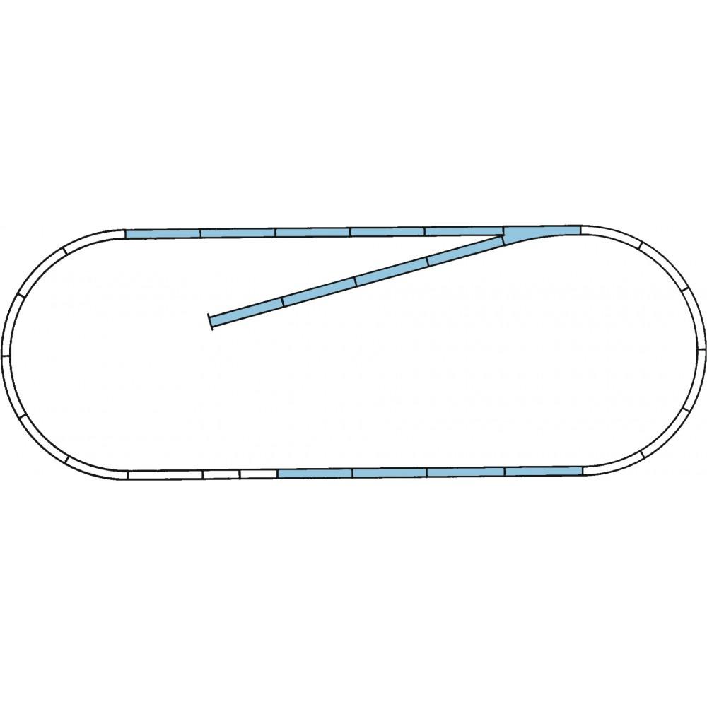Rocoline ballast 42010 Coffret de voie complémentaire B