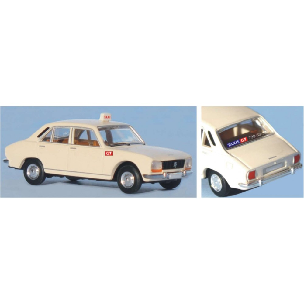 SAI 2094 Peugeot 504, taxi blanc G7