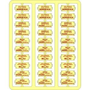 Ree Modeles XB051 Plaques Itinéraires pour voitures voyageurs, Sud-Ouest