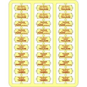 Ree Modeles XB 050 Plaques Itinéraires pour voitures voyageurs, Sud-Ouest