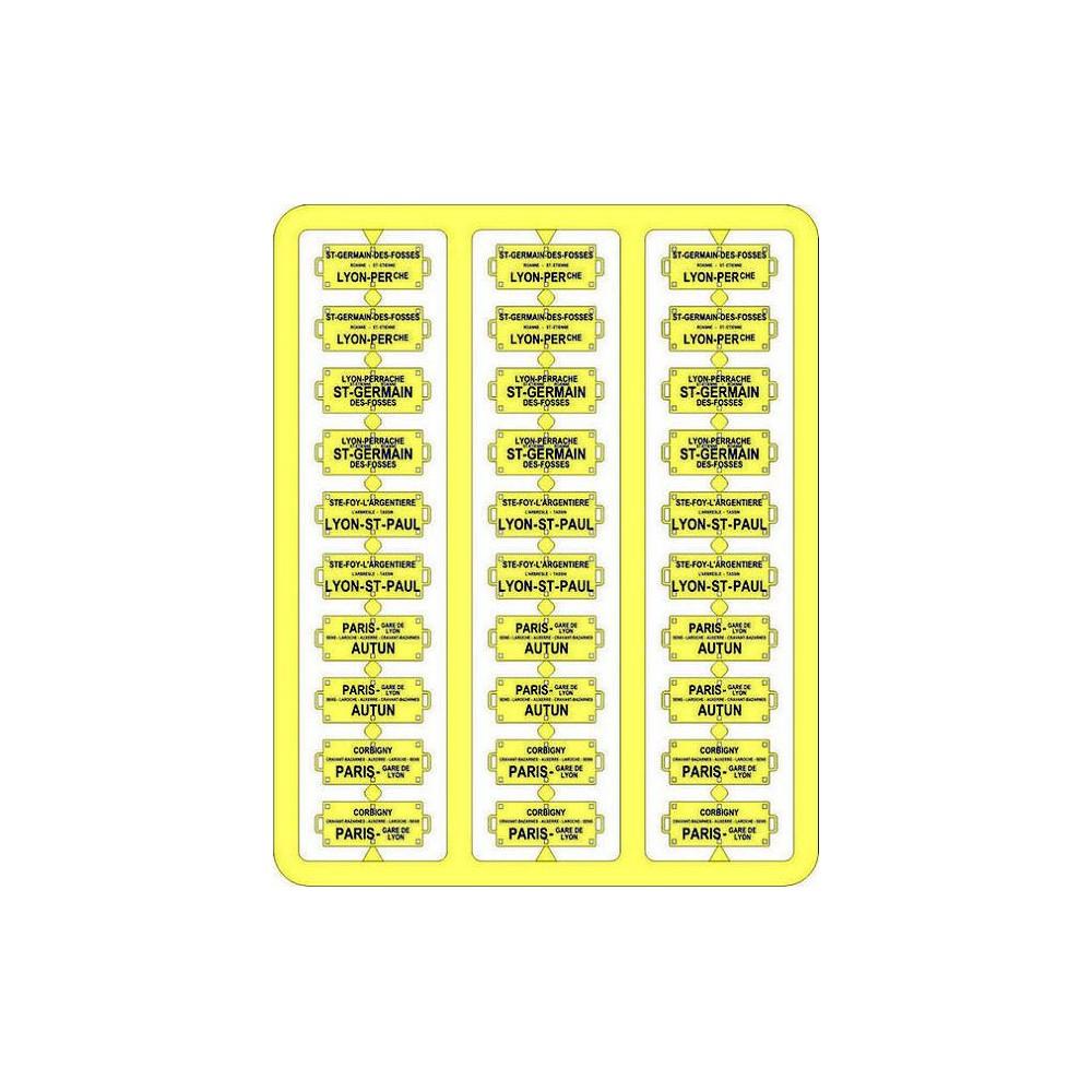 Ree Modeles XB 052 Plaques Itinéraires pour voitures voyageurs, Sud-Est