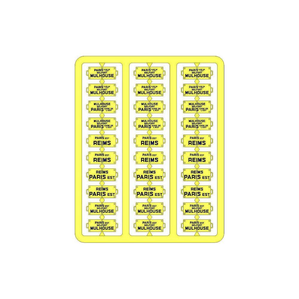 Ree Modeles XB 053 Plaques Itinéraires pour voitures voyageurs, Est