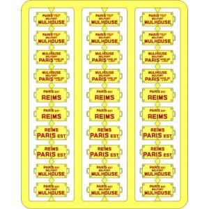 Ree Modeles XB 045 Plaques Itinéraires pour voitures voyageurs, Est
