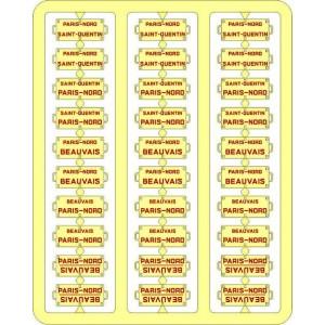 Ree Modeles XB 048 Plaques Itinéraires pour voitures voyageurs, Nord