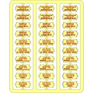 Ree Modeles XB 049 Plaques Itinéraires pour voitures voyageurs, Sud Ouest