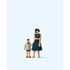 Preiser 28169 personnages, femme et son fils