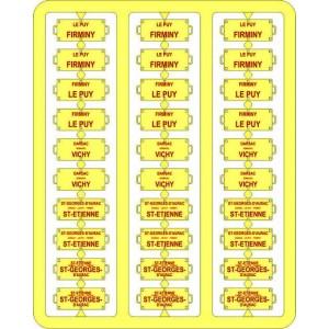 Ree Modeles XB 044 Plaques Itinéraires pour voitures voyageurs, Sud Est, lettres rouges