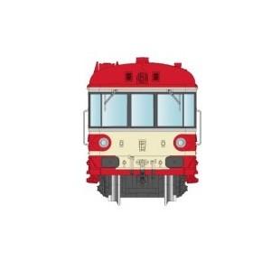 REE Modeles NW 169 Autorail EAD X-4502 + Remorque XR-8545, toit rouge, SNCF, dépôt Marseille