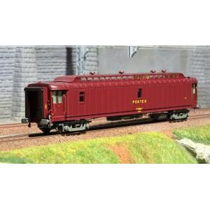 Ree Modeles VB 091 Voiture postale mixte OCEM 21.6m, PAz brun PTT, châssis gris