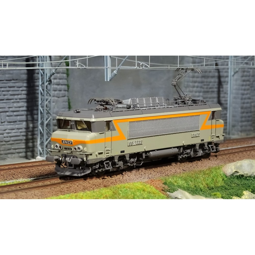 Ls Models 10452S Locomotive électrique BB 7323 SNCF, Gris / Orange, Villeneuve, Digitale sonore