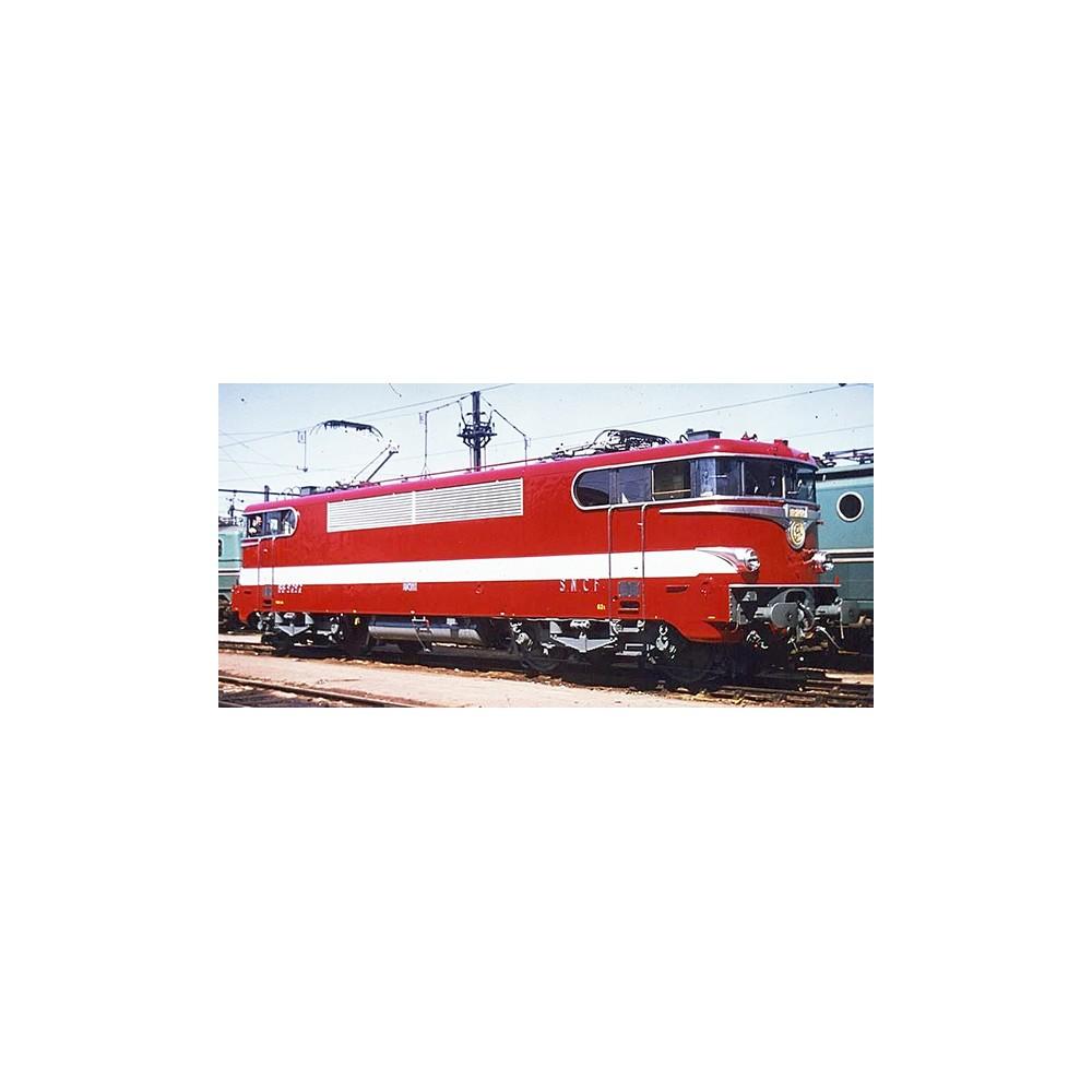 Ree Modeles MB 082.S Locomotive électrique BB 9288, Rouge CAPITOLE Sud-Ouest, dépôt Paris SO, sonore, panthos motorisés