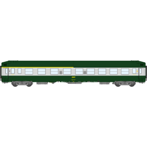 Ree Modeles VB223 Voiture voyageurs UIC couchettes, A4B5, vert/alu, toit haut