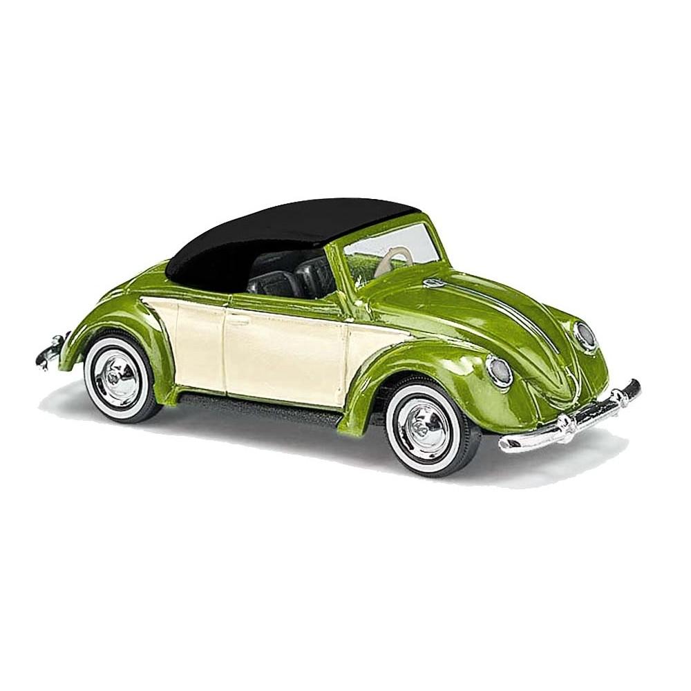 Busch 46735 Véhicule Volkswagen coccinelle Hebmüller cabriolet, vert métallique