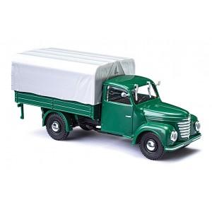 Busch 52350 Véhicule Camion Framo V901/2 vert, bâché