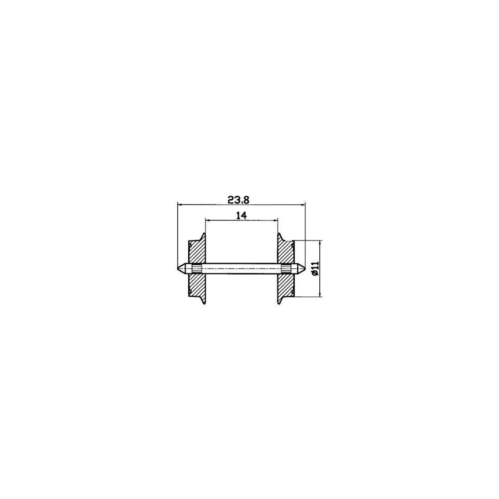 Roco 40182 Jeu d'essieux normalisé 11mm