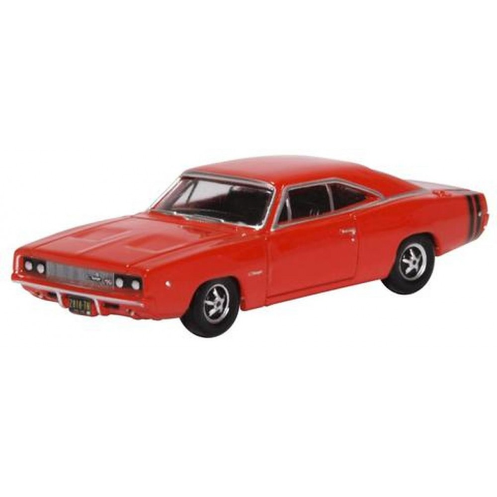Oxford 87DC68001 Voiture Dodge charger 1968 rouge