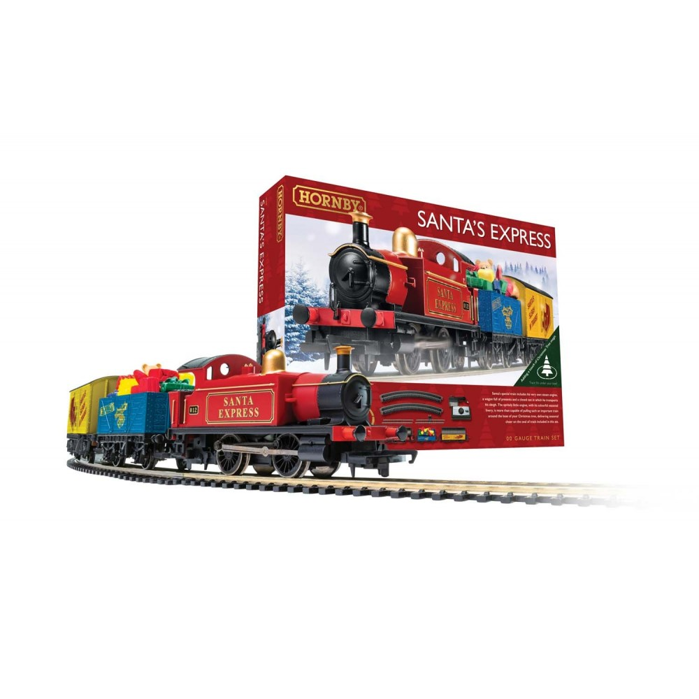 Hornby R1248P Coffret de départ Santa's Express, locomotive vapeur + wagons
