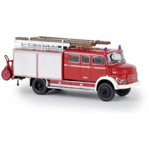 Brekina 47131 Camion Pompier Mercedes LAF 1113 LF 16, rouge et gris