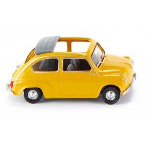 Wiking 009905 Fiat 600, jaune, toit ouvert