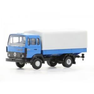 Sai 3640 Renault Camion bâché JN90, bleu, bâche gris claire