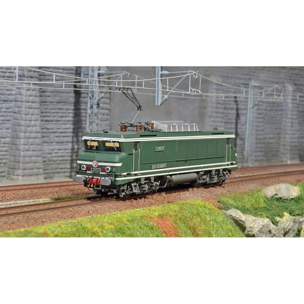 Ls Models 10476S Locomotive électrique BB 15003, SNCF, vert, Strasbourg, Digitale sonore