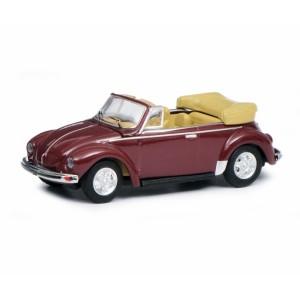 Schuco 452654700 Volkswagen coccinelle cabriolet ouvert, bordeaux