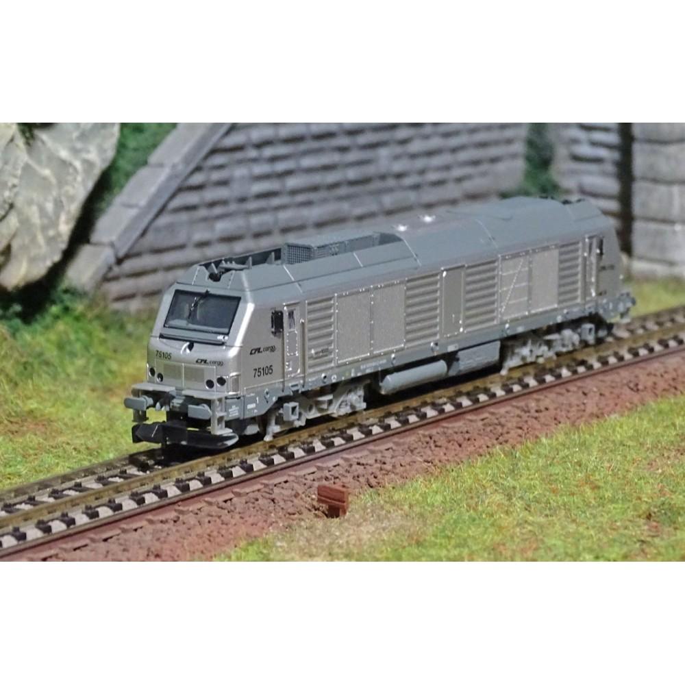 REE Modeles NW110 Locomotive Diesel BB 75105, CFL CARGO, échelle N