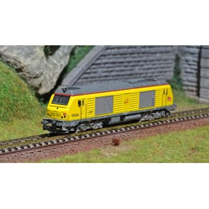 REE Modeles NW107 Locomotive Diesel BB 75034, SNCF, INFRA, échelle N