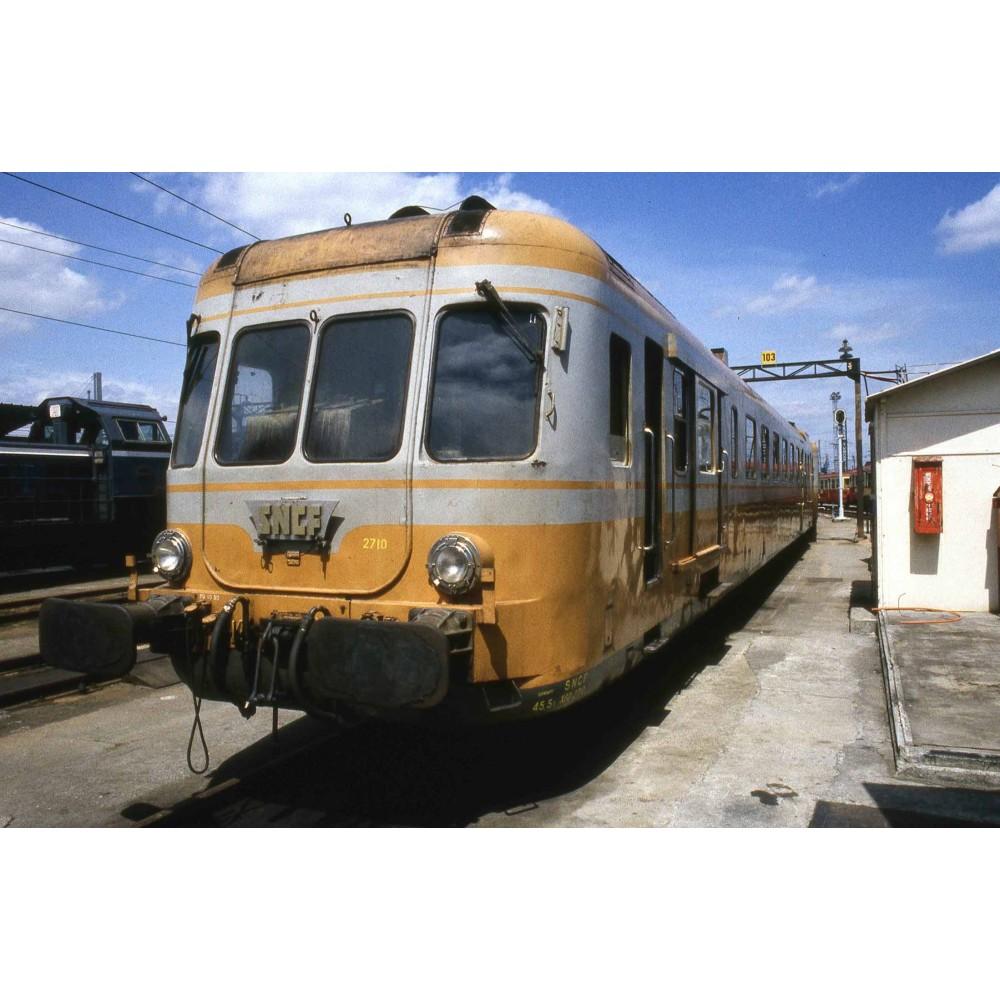 Jouef HJ2388S Autorail diesel X 2700 à 2 voitures, SNCF, livré orange - gris, digital sonore