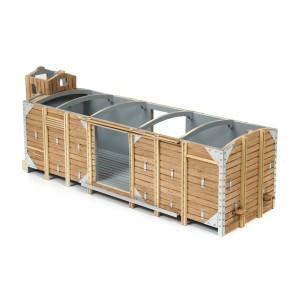 OcCre 56002 Wagon de marchandise couvert avec guérite 1/32 kit construction bois métal