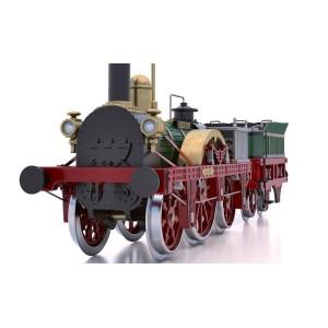 OcCre 54001 Locomotive à vapeur Adler 1/24 kit construction bois métal