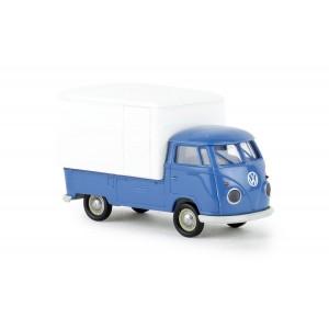 Brekina 32451 Volkswagen T1b, bâché bleu et blanc