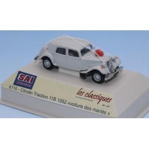 SAI 6116 Citroën Traction 11B 1952, gris perle, Voiture des Mariés